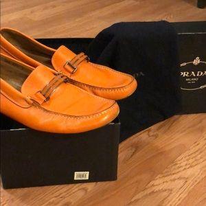 Men's Prada Buckle Loafers